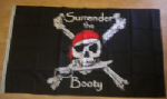 Pirate Surrender the Booty Large Flag - 5' x 3'.